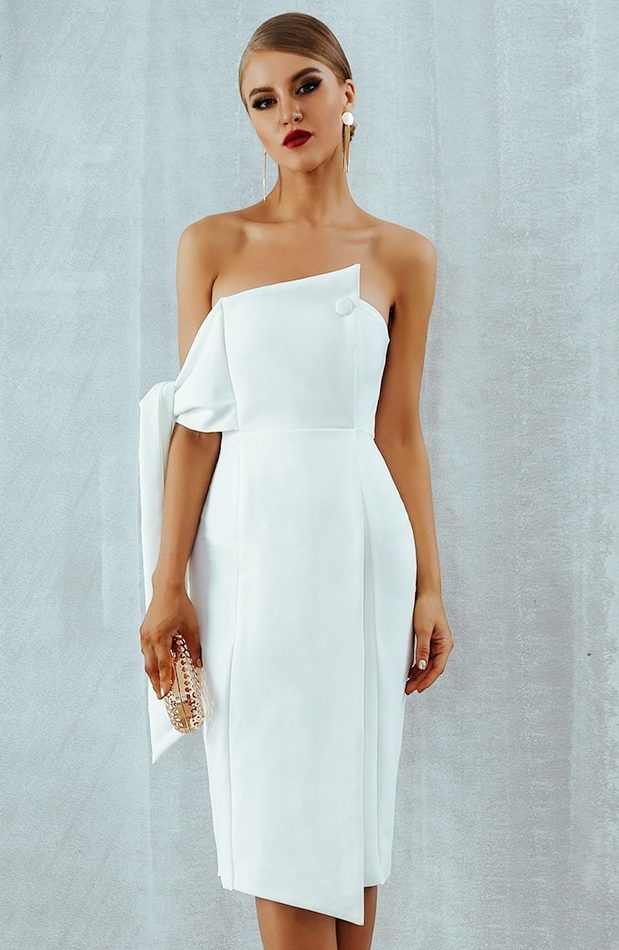 Coming Soon White Dress Party Dresses Clubwear Dresses