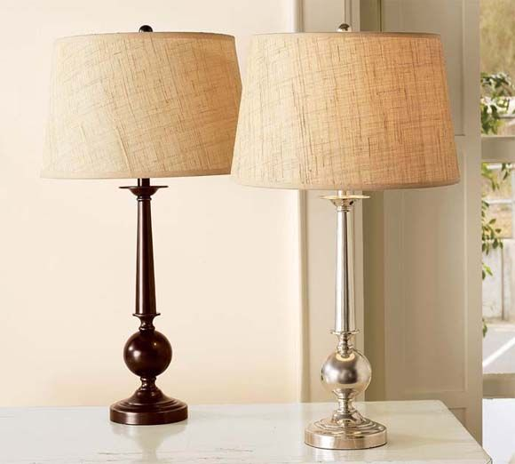 Gillian Candlestick Bedside Lamp Base from Pottery Barn 9