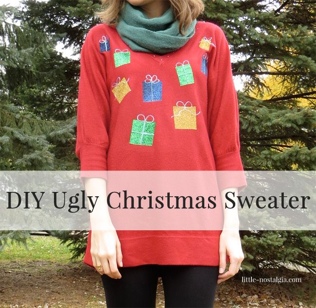 DIY Ugly Christmas Sweater by Paige {Little Nostalgia}