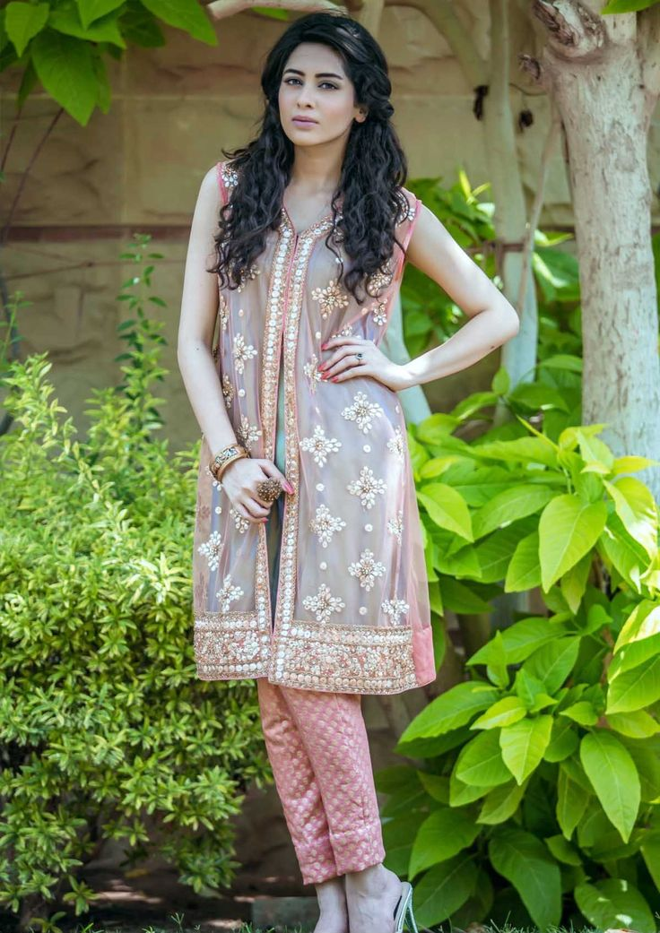 Pakistani Designer Dresses Lowest Prices Tea Pink Net