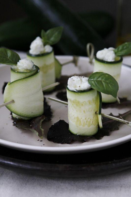 Beautiful appetizer! Zucchini Rolls #recipe by @bellalimento #glutenfree