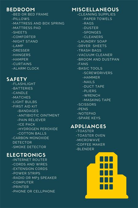 New Apartment Checklist important items