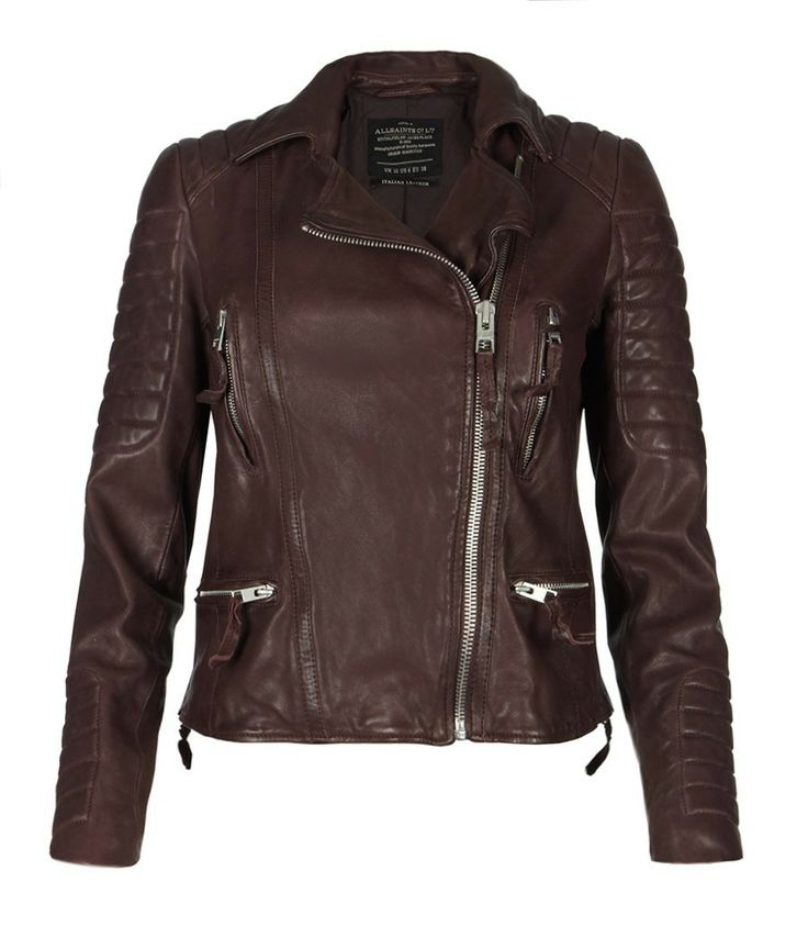 I like all the design details and the color. It feels badass and feminine at the same time. Oxblood Biker Jacket- AllSaints Spitalfields