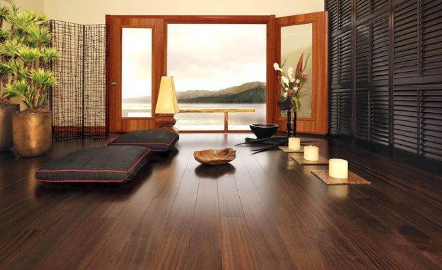 Wooden flooring is an often recurring dream for most home décor enthusiasts. The rich brown color with the natural sheen looks incredibly sophisticated and chic. The ethereal beauty offered by wooden flooring is sure to cast an instant warmth and patina to any home.