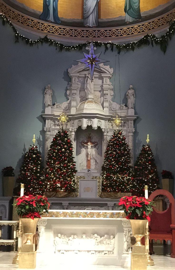 St. Monica Catholic Church! #christmasdecorations2017 #flowersbyyianni #stmonica