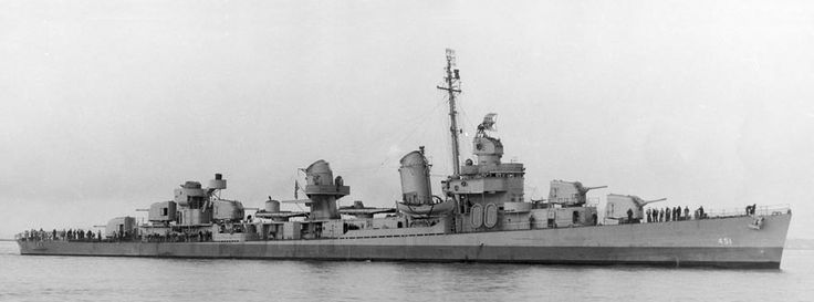 USS Chevalier (DD-451) A Fletcher-class destroyer.  Pic is October 1942.
