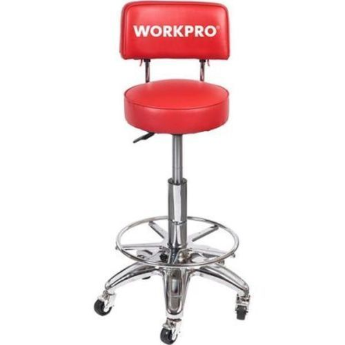 Red Work Stool Heavy Duty Shop Seat Chair Adjustable Tall