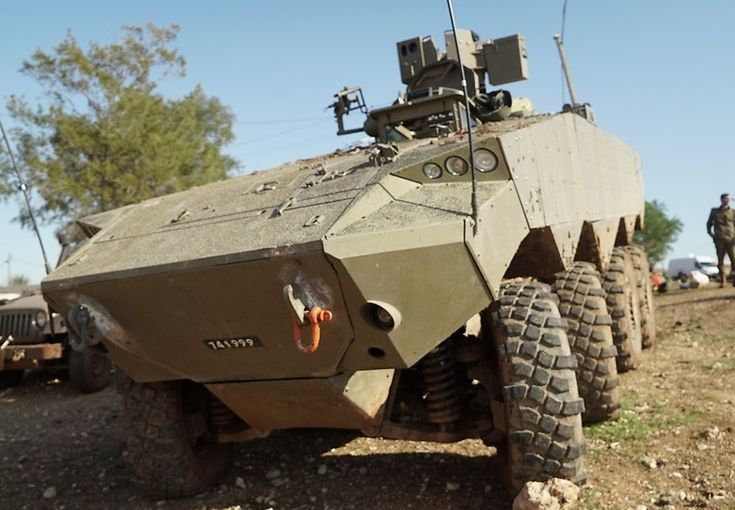 the new Israel's Eitan armoured personnel carrier developed by the IAI, IMI and Rafael.
