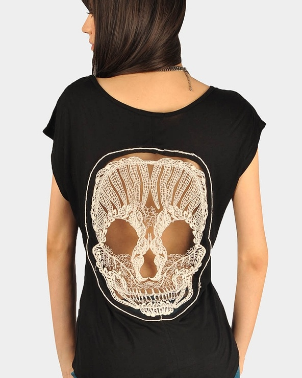 Skull Back Top - Black 20% off at necessary Clothing...NEED THIS!
