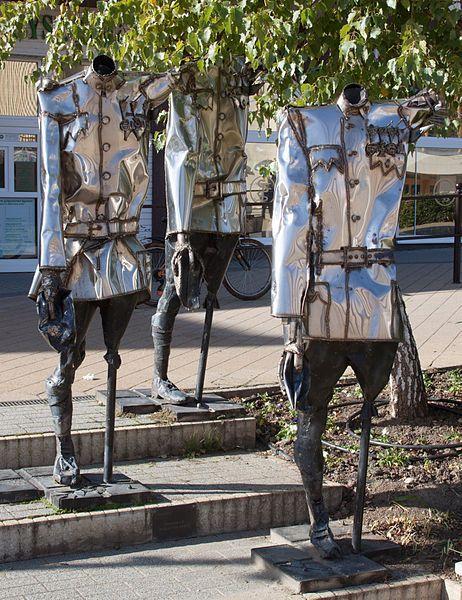 Sculpture of Imre Varga - Memento for the 2nd Hungarian Army-Siófok