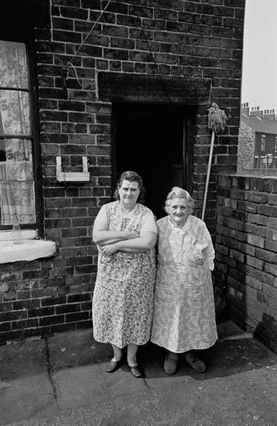 Mother and daughter, Sheffield backyard 1969