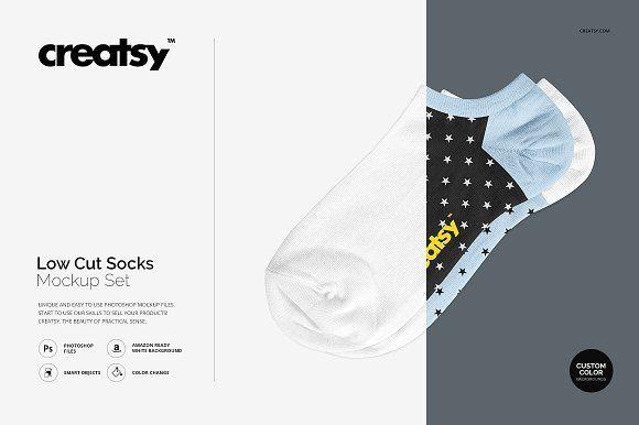 Low Cut Socks Mockup Set by Creatsy on @creativemarket