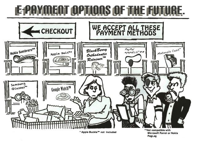 E-payment options of the future.