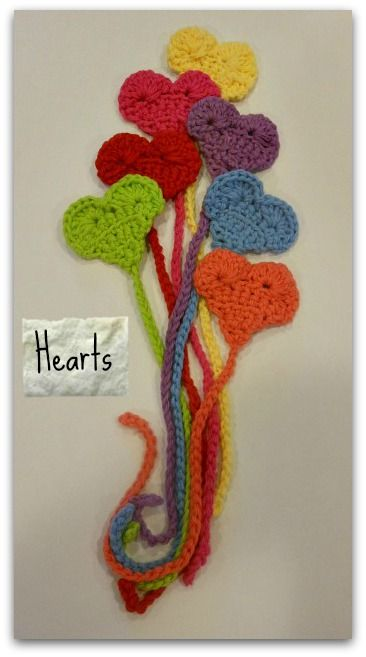 Cute crocheted heart bookmarks!