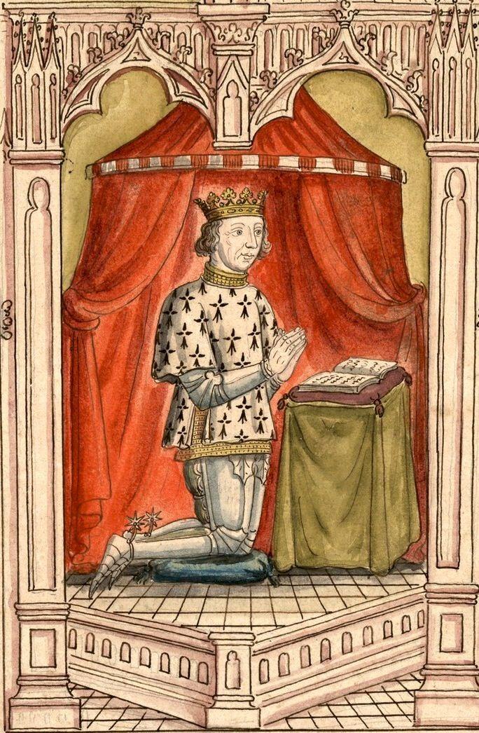 François II, duc de Bretagne, †1488. Dessin du vitrail des Cordeliers de Nantes (Gaignières 766).