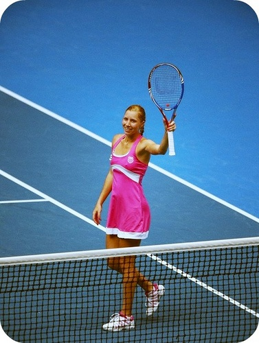 Alona Bondarenko in her Australian Open dress.