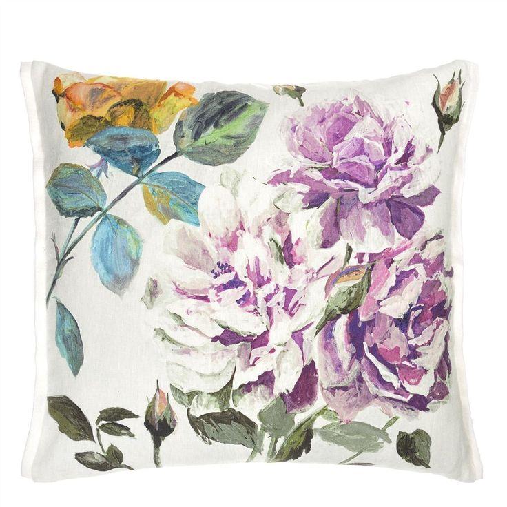 Couture Rose Viola Throw Pillow | Designers Guild