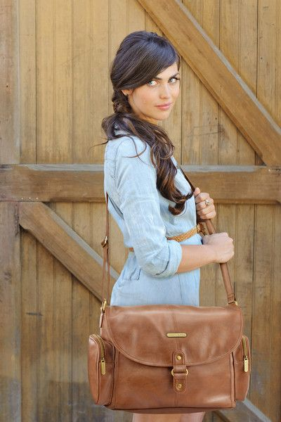 timi & leslie Metro Messenger Designer Baby Bag Barcelona Brown