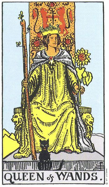 QUEEN OF WANDS - Attractive, Wholehearted, Energetic, Cheerful, and Self-Assured