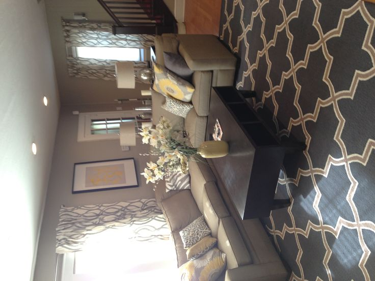 Living room - @Brittany Schumaker this looking's like your yellow/grey dream living room :)