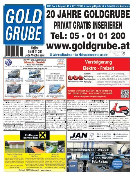 Privat Gratis Inserieren auf www.goldgrube.at http://webkiosk.goldgrube.at/de/document/view/56466856/goldgrube-ausgabe-48