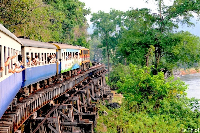The Death Railway in Kanchanaburi