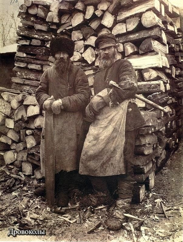 Russian  Wood splitters, late 1800's