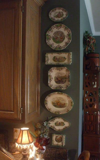 Beautiful Spode Transferware china on display. Nancy's Daily Dish: My Spode Abode