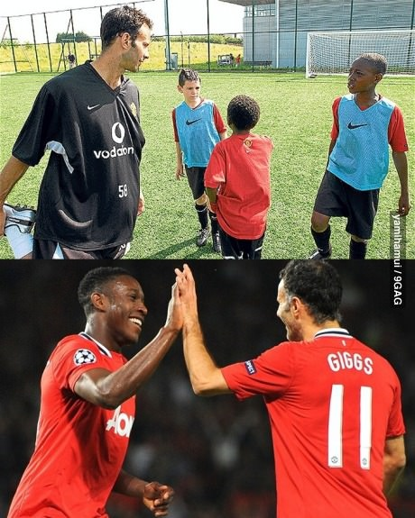 As years go by Danny Welbeck  Ryan Giggs... They grew to become legend