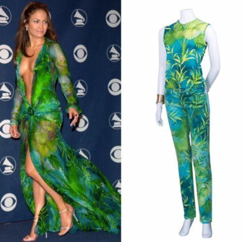 Amazing Versace Set Jennifer Lopez, Jeans & Top Sz  US 4  IT 38 FR 36