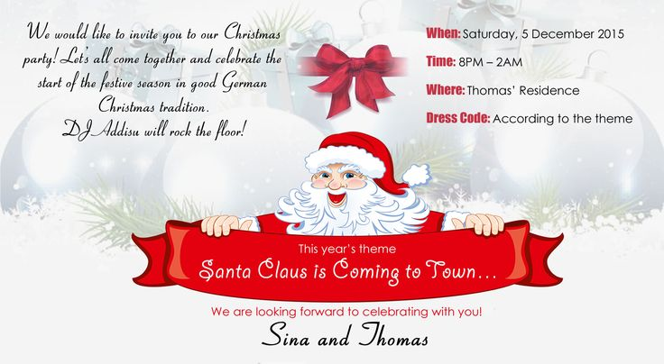 Santa Claus is Coming to Town…