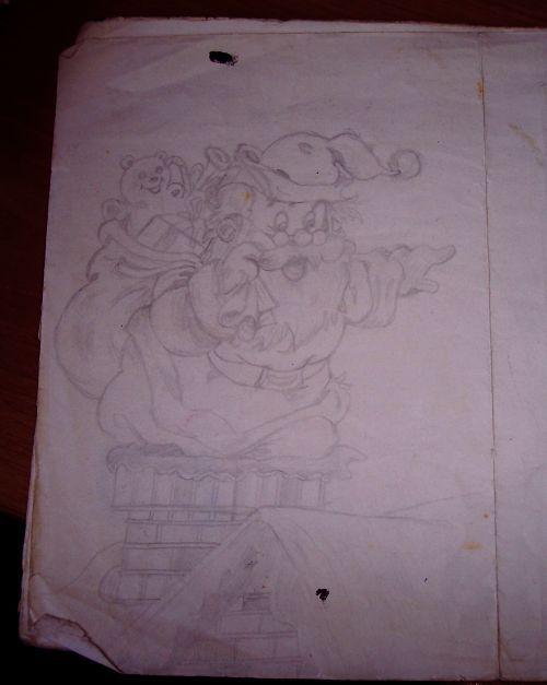 Altro disegno per una vetrina di Natale
