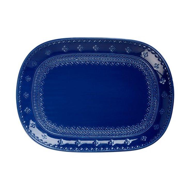 Maxwell & Williams Ponto Oblong Platter 40 x 28cm | Serving & Salad Bowls - House