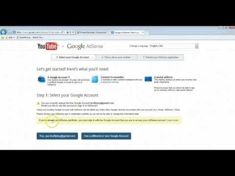 2013 guide on How to Link 2 Youtube Channels to 1 Google Adsense account - YouTube