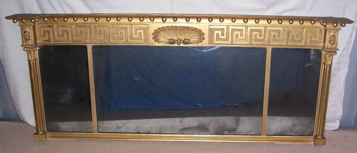 Regency Giltwood & Gesso Overmantel Mirror FOR SALE, http://www.domani-devon.com/stock/mirrors/regency-giltwood-gesso-overmantel-mirror
