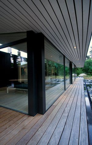 Boligreportage: Aerodynamisk sommerhus med 15 meter lang stue