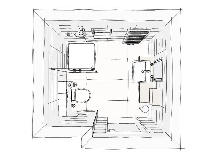 10 beste afbeeldingen van schetsen badkamer