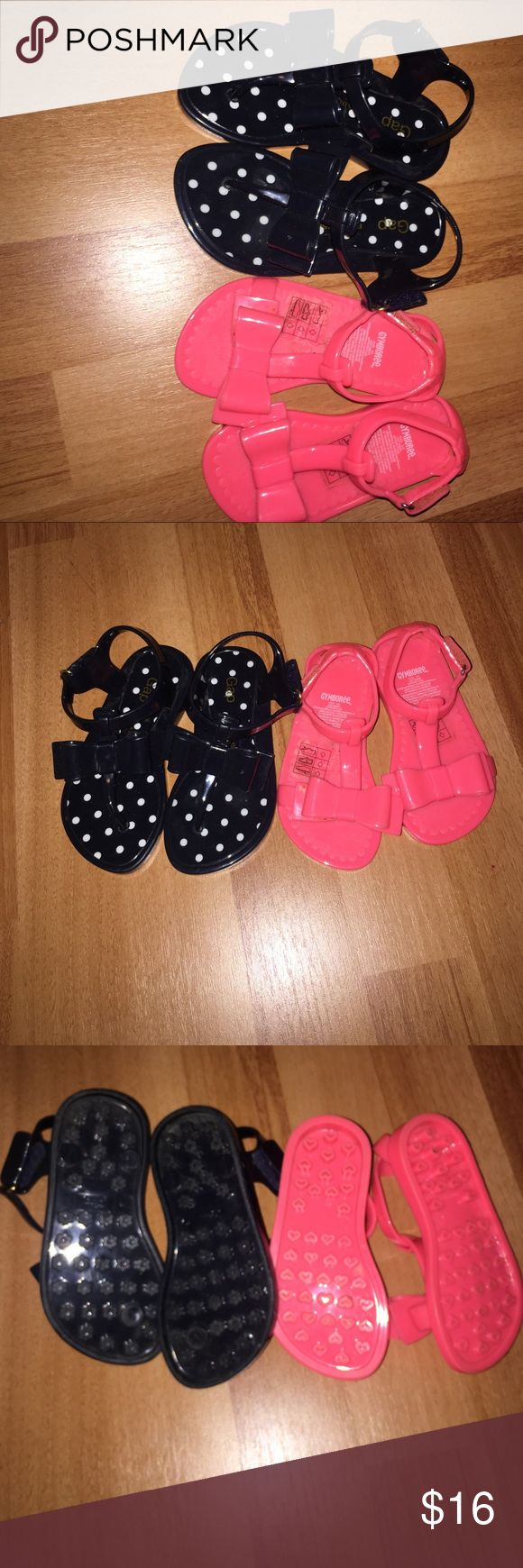 Jelly shoes lot toddler girls Great used condition. The blue and white gap shoes are a size 7 and the pink Gymboree shoes are a size 5/6 GAP Shoes #JellyShoesFashion
