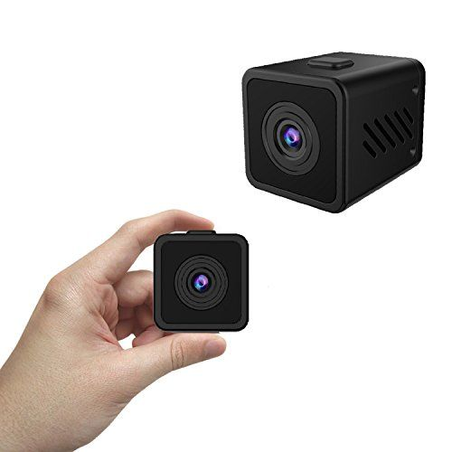 Kaisio Small Wifi Spy Camera with Wide Viewing Angle, 16.5 Feet Night Vision, Sensitive Motion Alert, 720p HD Hidden Cam for Home Security Office(Support 64G SD Card)  Compact Yet Powerful: The battery life of the camera is quite good as it can last for up to 120 minutes in the day time and for up to 90 minutes during the night time at such compact size similar with one dollarOn-Demand Live Video - 128¡ã wide angle and 720p HD gives you clear images day and night. True night vision ..