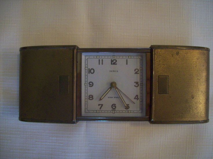 Semca Brass Travel Alarm Clock with Expanding Case Vintage. Price Includes Shipping. by sicillyscloset on Etsy