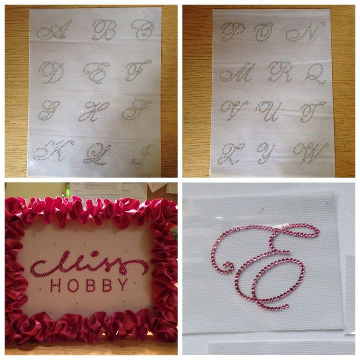 Applicazione/toppa strass hotfix termoadesivi lettera dell'alfabeto fatta a mano, by Le mani di Ema, 2,70 € su misshobby.com