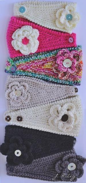 Crochet ear warmers by hellen.hattingh ༺✿ƬⱤღ✿༻