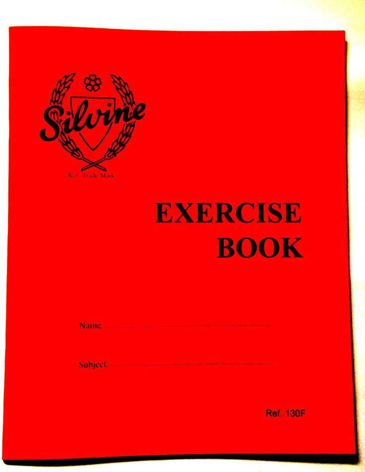 Back 2 School  Silvine Exercise Book Red Cover 40 Lined Pages 203mm x 165mm