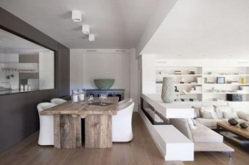 The split level living room