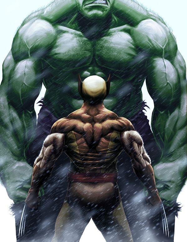 Hulk vs Wolverine by Tom Velez