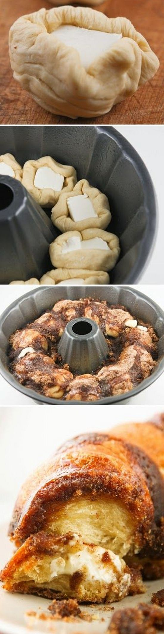 Cream Cheese Cinnamon Monkey Bread made with flaky buttermilk biscuits. OMG!