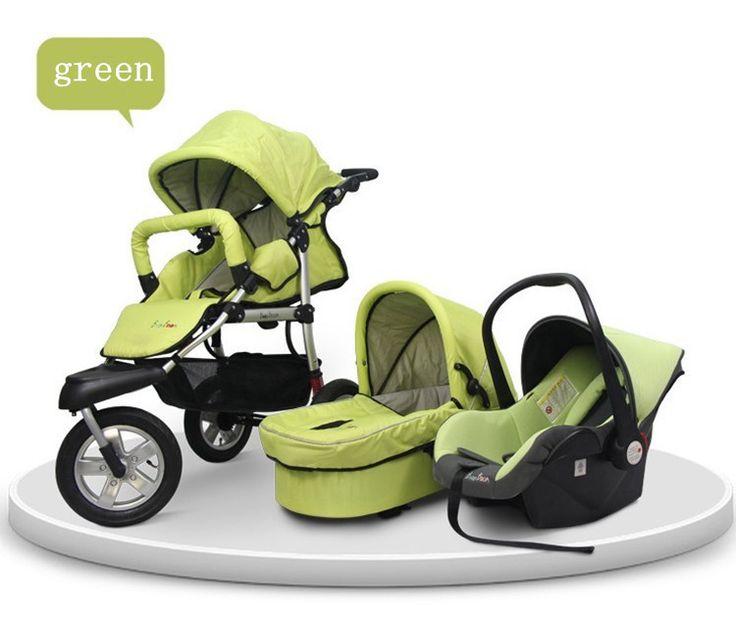 Детские путешествия системы в лучший продукт детская коляска 3 в 1 самая низкая цена 5 цветов 3 в 1 детских колясок с люлька и автокресло