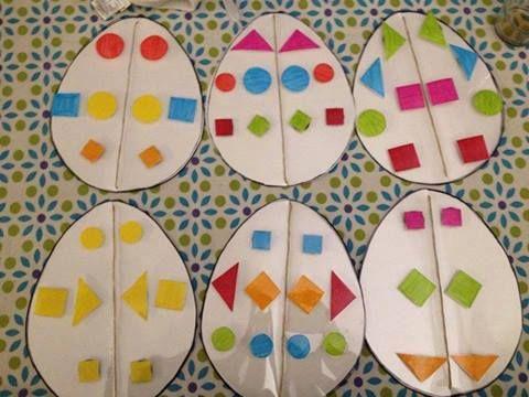 Math - symétrie - Oeufs de Pâques
