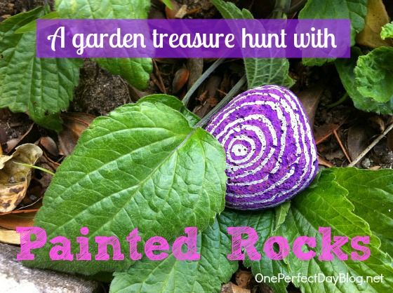 A Garden Treasure Hunt with Painted Rocks - love this combo of art and outdoors from One Perfect Day: Colors Patterns, Fun Activities, Activities For Kids, Paintings Rocks, Simply Activities, Class Activities, Summer Fun, Treasure Hunt'S, Afternoon Paintings