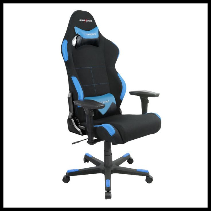 Dxracer Office Computer Ergonomic Gaming Chair Pyramat Black And Blue